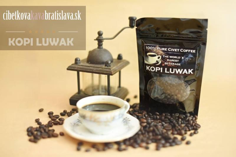 Príprava cibetkovej kávy